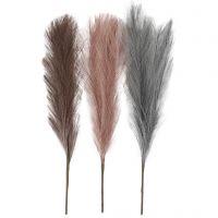Pasto Pampas, L. 50 cm, azul palomo, frosted purple, rosa antiguo, 3 ud/ 1 fajo