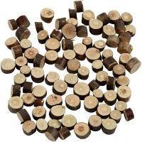 Surtido de madera, dia: 7-10 mm, grosor 4-5 mm, 230 gr/ 1 paquete