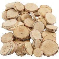 Surtido de madera, dia: 25-45 mm, grosor 7 mm, 600 gr/ 1 paquete