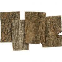 Placas de corteza, medidas 9,5x6,5 cm, grosor 1-4 mm, 340 gr/ 1 paquete