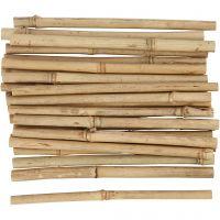 Palos de bambú, L. 20 cm, grosor 8-15 mm, 30 ud/ 1 paquete