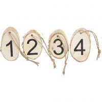 Discos de madera con números de adviento, 4 ud/ 1 paquete