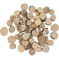 Disco de madera, dia: 10-15 mm, 25 gr/ 1 paquete