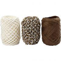 Cordel de papel, beige perla, 3x10 m/ 1 paquete