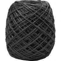 Cáñamo natural, grosor 1-2 mm, negro, 150 m/ 1 rollo