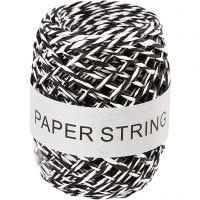 Cordel de papel , grosor 1 mm, negro/blanco, 50 m/ 1 rollo