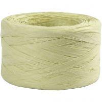 Hilo de rafia de papel, A: 7-8 mm, verde claro, 100 m/ 1 rollo