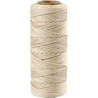 Cuerda de yute, grosor 1 mm, blanquecino, 65 m/ 1 rollo