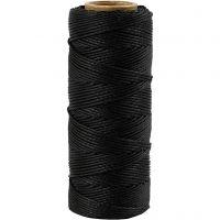 Cuerda de yute, grosor 1 mm, negro, 65 m/ 1 rollo