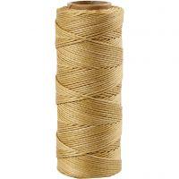 Cuerda de yute, grosor 1 mm, dorado, 65 m/ 1 rollo