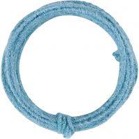 Alambre de yute, grosor 2-4 mm, azul cielo, 3 m/ 1 paquete