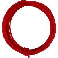 Alambre de yute, grosor 2-4 mm, rojo, 3 m/ 1 paquete