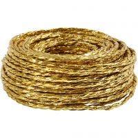 Cordón de papel, grosor 3,5-4 mm, dorado, 25 m/ 1 rollo