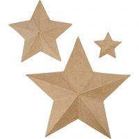 Estrellas, A: 11+19,5+31,5 cm, 3 ud/ 1 paquete
