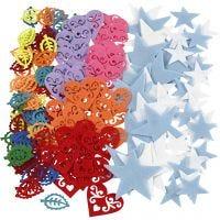 Figura de fieltro, medidas 40-60 mm, El contenido puede variar , surtido de colores, 180 ud/ 1 paquete
