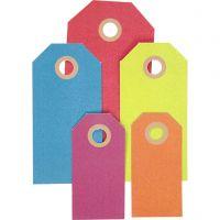 Etiqueta, medidas 3x6+4x8+5x10 cm, 220 gr, surtido de colores, 500 ud/ 1 paquete