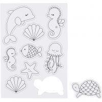 Imanes, criaturas marina, 14,85x21 , 1 hoja