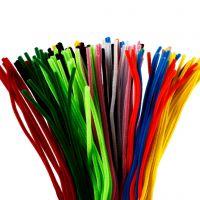 Limpiador de tubo, L. 45 cm, grosor 6 mm, surtido de colores, 200 stdas/ 1 paquete