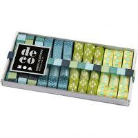 Surtido de cintas, A: 10 mm, azul/gris harmonía, 12x1 m/ 1 paquete