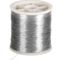 Hilo de coser, grosor 0,15 mm, plata, 100 m/ 1 rollo