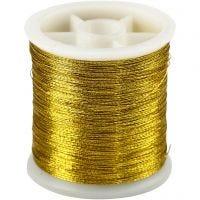 Hilo de coser, grosor 0,15 mm, dorado, 100 m/ 1 rollo