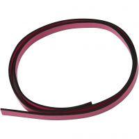 Cinturón de cuero, A: 10 mm, grosor 3 mm, rosa, 1 m/ 1 paquete
