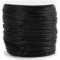 Cuerda de algodón, grosor 0,6 mm, negro, 100 m/ 1 paquete