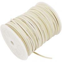 Cuerda de gamuza sintética, grosor 3 mm, beige, 100 m/ 1 rollo