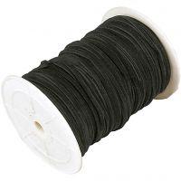 Cuerda de gamuza sintética, grosor 3 mm, negro, 100 m/ 1 rollo
