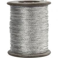 Hilo, grosor 0,5 mm, plata, 100 m/ 1 rollo