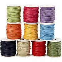 Cuerda de algodón, grosor 2 mm, colores fuertes, 10x25 m/ 1 paquete