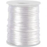 Cuerda satinada, grosor 2 mm, blanco, 50 m/ 1 rollo