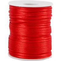 Cuerda satinada, grosor 2 mm, rojo, 50 m/ 1 rollo