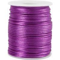 Cuerda satinada, grosor 2 mm, morado, 50 m/ 1 rollo