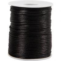 Cuerda satinada, grosor 2 mm, negro, 50 m/ 1 rollo