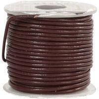 Cordón de cuero, grosor 1 mm, marrón, 10 m/ 1 rollo