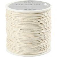 Cordón de algodón, grosor 1 mm, blanquecino, 40 m/ 1 rollo