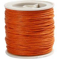 Cordón de algodón, grosor 1 mm, naranja, 40 m/ 1 rollo