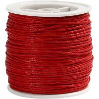 Cordón de algodón, grosor 1 mm, rojo, 40 m/ 1 rollo