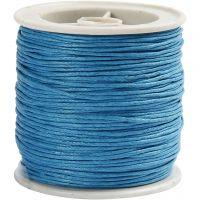 Cordón de algodón, grosor 1 mm, turquesa, 40 m/ 1 rollo