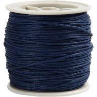 Cordón de algodón, grosor 1 mm, azul, 40 m/ 1 rollo