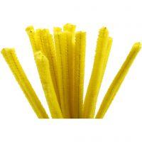 Limpiador de tubo, L. 30 cm, grosor 9 mm, amarillo, 25 ud/ 1 paquete
