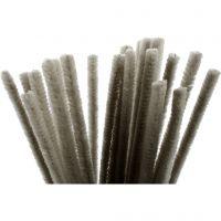 Limpiador de tubo, L. 30 cm, grosor 9 mm, gris, 25 ud/ 1 paquete