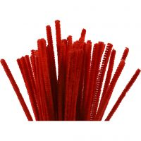 Limpiador de tubo, L. 30 cm, grosor 6 mm, rojo, 50 ud/ 1 paquete