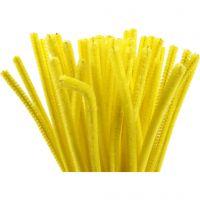 Limpiador de tubo, L. 30 cm, grosor 6 mm, amarillo, 50 ud/ 1 paquete