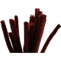 Limpiador de tubo, L. 30 cm, grosor 15 mm, rojo antiguo, 15 ud/ 1 paquete