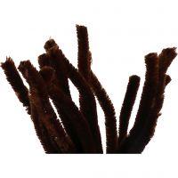 Limpiador de tubo, L. 30 cm, grosor 15 mm, marrón, 15 ud/ 1 paquete