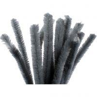 Limpiador de tubo, L. 30 cm, grosor 15 mm, gris, 15 ud/ 1 paquete