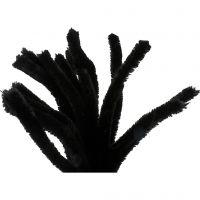 Limpiador de tubo, L. 30 cm, grosor 15 mm, negro, 15 ud/ 1 paquete