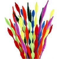 Limpiador de tubo, ondulados, L. 30 cm, grosor 5-12 mm, surtido de colores, 28 stdas/ 1 paquete